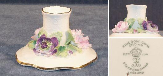 Porzellan Kerzenständer