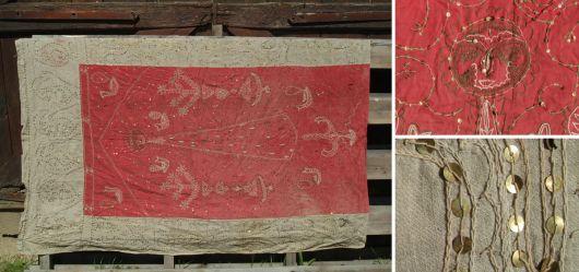 Alter Wandbehang aus Leinen
