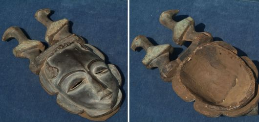 Afrikanische Maske der Baule / Elfenbeinküste 2. Hälfte 20. Jhd
