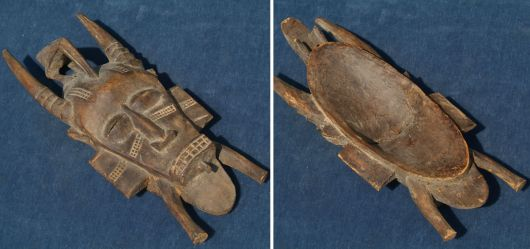 Kpelié-Maske; Elfenbeinküste (Senufo) 2. Hälfte 20. Jhd