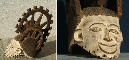 Afrikanische Frauenmaske / Ibo; Mitte 20. Jhd