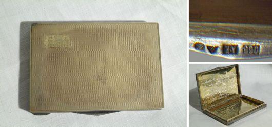 Alte tschechische Silberdose / Tabakdose