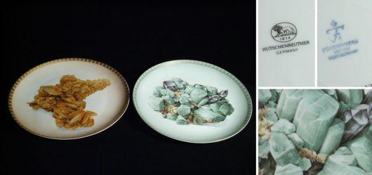 Zwei Sammelteller für Mineraliensammler