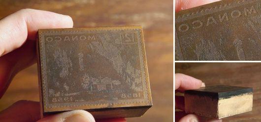 Briefmarken-Druckplatte