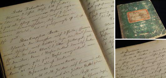 Altes Kochbuch mit vielen seltenen Rezepten 1889