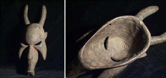 Exotisch-afrikanisches Maske / Mitte 20. Jahrhundert