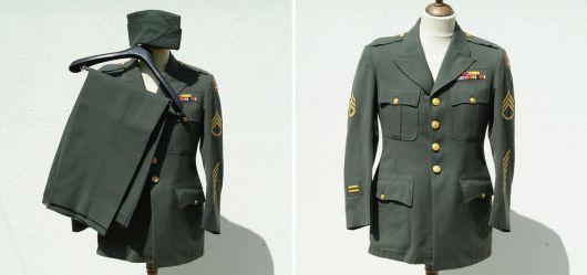 Klassische US Army Uniform für hochrangige Offiziere