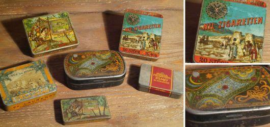 Zigarettendosen Konvolut - 1. H. 20. Jhd.