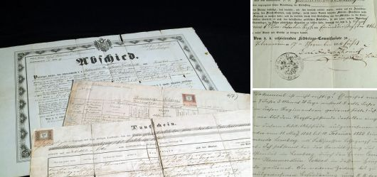 3 Historische Dokumente des Soldaten Stanislaus Szatkowski