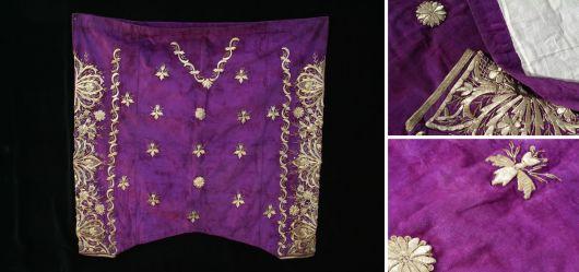 Osmanische Herren-Hose aus violettem Samt 19. Jahrhundert