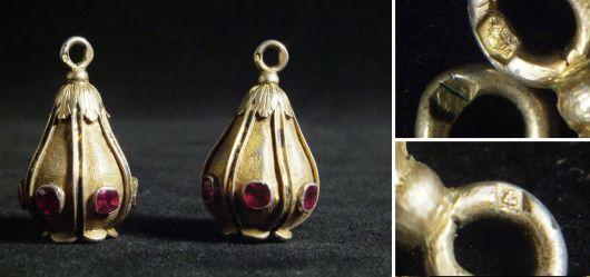 Two unusal pendant Dianas head mark