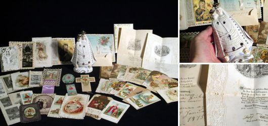 Devotionalien-Sammlung sehr alter Andachtsbilder 1850 – 1920