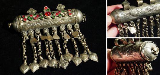 Ein Turkmenisches Amulett im klassischen Stil Mitte 20. Jahrhundert