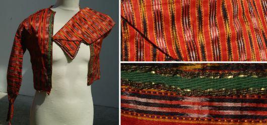 Rote Stoff Damenjacke aus dem osmanischen oder turkmenischen Raum 19/20 Jahrhundert