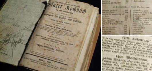 Sehr altes Kochbuch 1837