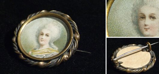 Brooch with needle Marie-Antoinette