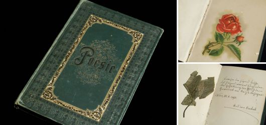 Poesiealbum aus dem 19. Jahrhundert