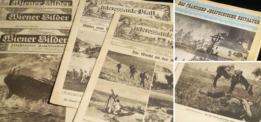 Konvolut Zeitungen aus dem 1. Weltkrieg