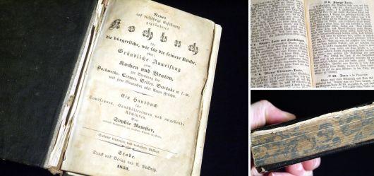 Seltenes Kochbuch ab 1853