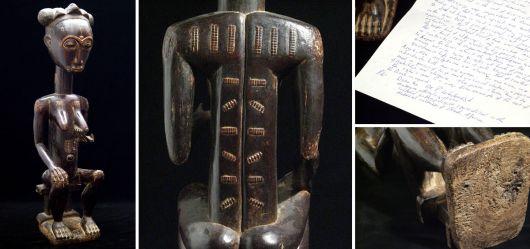 Große weibliche Kultfigur der Baule Blolo Bla 19. Jahrhundert