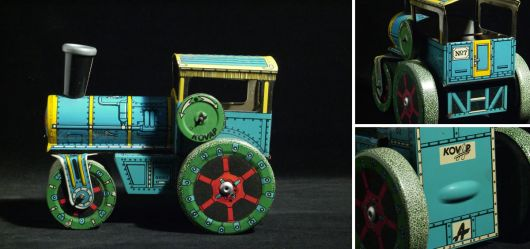 Tin toy Road roller around 1970