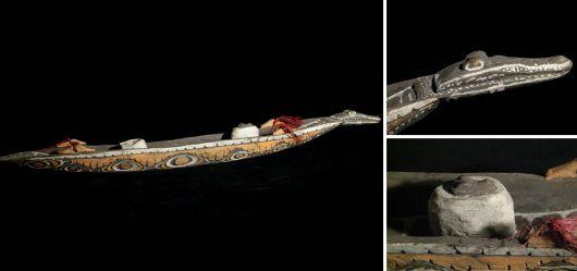 Kleines Seelenboot der Kambot Mitte 20. Jahrhundert
