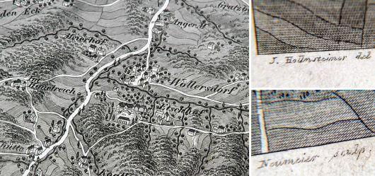 Landkarte 19. JHD. Brand & St. Corona