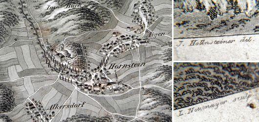 Alte Landkarte 19 JHD. Pottenstein & Hörnstein