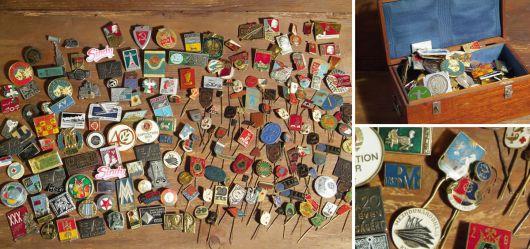 Große Pin-Sammlung