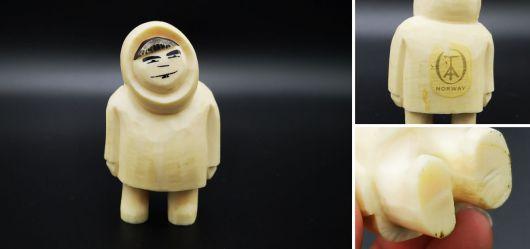 Eskimo-Figur aus einem Pottwal-Zahn