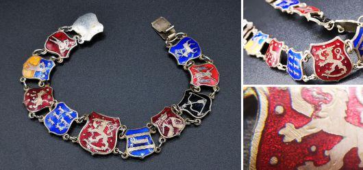 Old coat of arms bracelet Finland