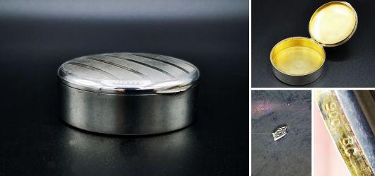 Hochwertige runde Silberdose um 1900