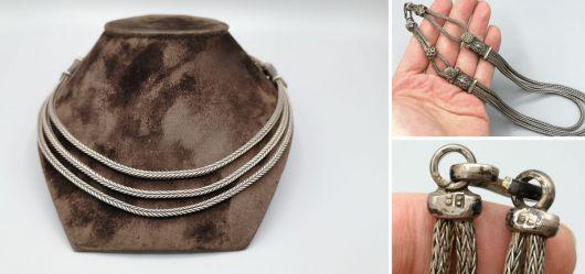Silberne Beduinen-Halskette aus Turkmenistan
