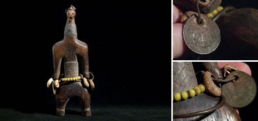 Anthropomorphic Namji doll Cameroon around 1970