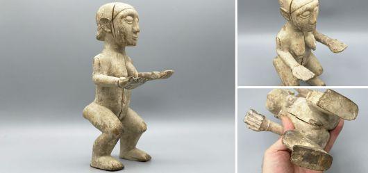 Weibliche Altarfigur aus dem Mami Wata Kult der Ewe / Dangme / Aklama aus Ghana um 1970