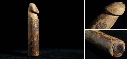 Phallus-Skulptur Westafrika Mitte 20. Jahrhundert