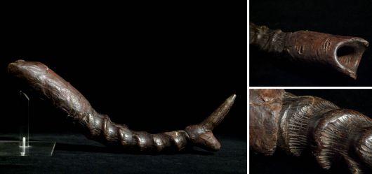 Alter Horn-Fetisch aus Westafrika Mitte 20. Jahrhundert