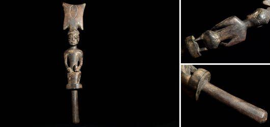 Afrikanischer Stab eines Häuptlings der Yoruba um 1950