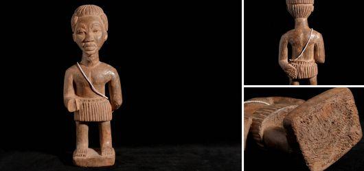Handgeschnitzte männliche Standfigur 1970–1980 vermutlich Ghana