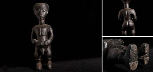 Männliche Standfigur der Lobi 1970–1980 aus Westafrika Elfenbeinküste