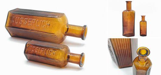 Zwei sechseckige Enghals-Flaschen