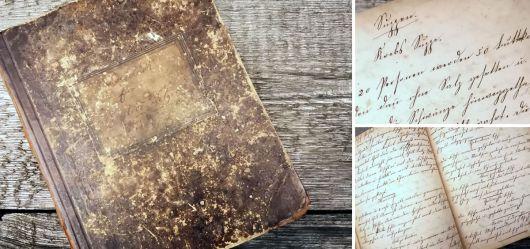 Handwritten cookbook from 1889