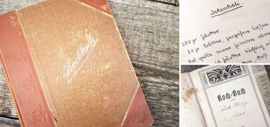 Handgeschriebenes Kochbuch 19.bis 20. Jahrhundert