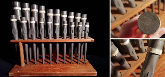 Set historische Orgel-Pfeifen 1880 – 1920