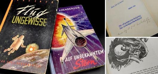 Zwei alte Science Fiction Bücher aus den 50er Jahren