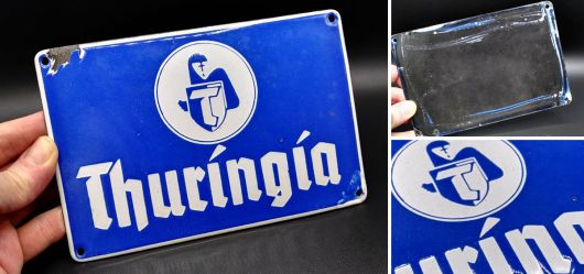 Originales Emaille-Schild Thuringia Versicherung