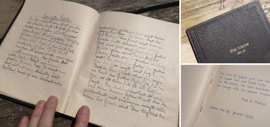 Konfirmation der Else Klamer 1917 – 1918 Stammbuch