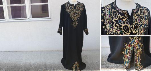 Womens dress in traditional caftan cut