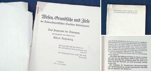 Wesen, Grundsätze und Ziele der Nationalsozialistischen Deutschen Arbeiterpartei