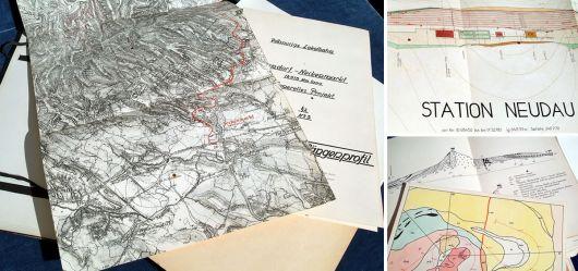 Originaldokumente Eisenbahnbau Agendorf - Neckenmarkt 1934